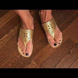 Tory B Roselle gold sandals